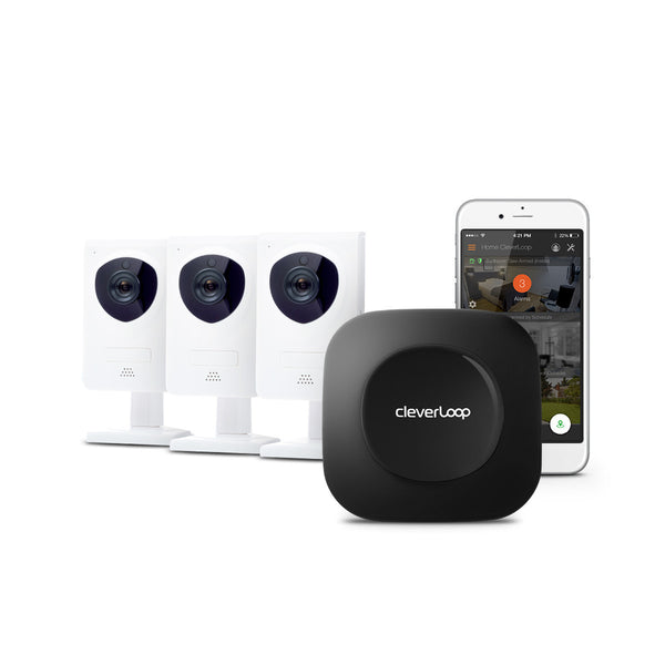 CleverLoop Security System mit  3 Kameras