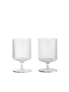 RIPPLE WINE GLASSES-SET OF 2-CLEAR