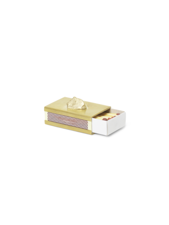 STONE MATCHBOX COVER-BRASS