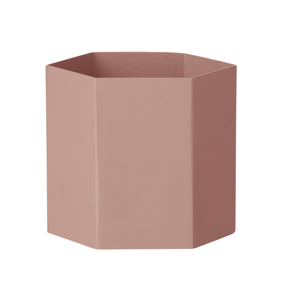 Hexagon Pot - Rose Large, HOME DECOR, FERM, - Fabrica