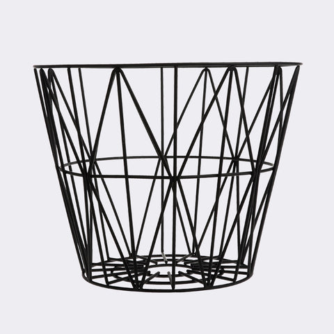 Wire Basket - Large - Black, HOME DECOR, FERM, - Fabrica
