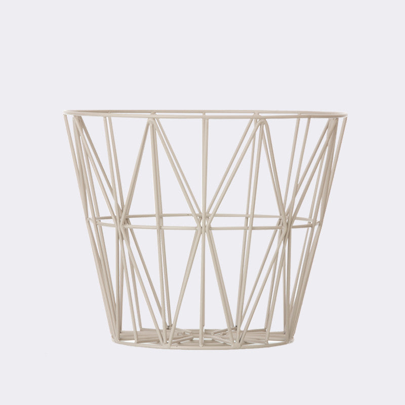 Wire Basket - Large - Grey, HOME DECOR, FERM, - Fabrica