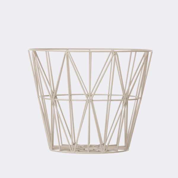Wire Basket - Medium - Grey, HOME DECOR, FERM, - Fabrica