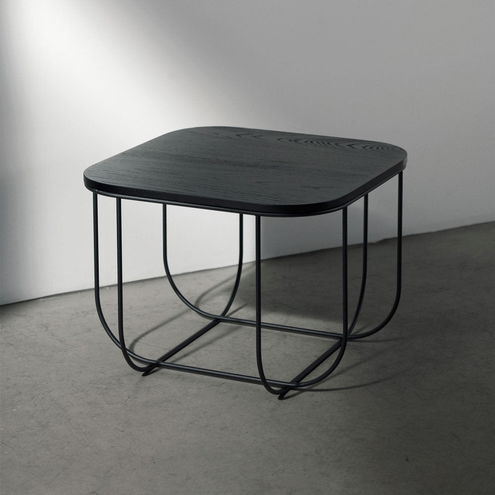 FUWL CAGE TABLE IN BLACK & DARK ASH (43X43X30 CM), HOME DECOR, MENU, - Fabrica