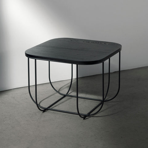 Fuwl Cage Table In Black & Dark Ash, HOME DECOR, MENU, - Fabrica