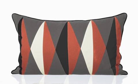 Harlequin Cushion - Coral, HOME DECOR, FERM, - Fabrica