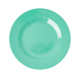 MELAMINE ROUND DINNER PLATE IN EMERALD GREEN