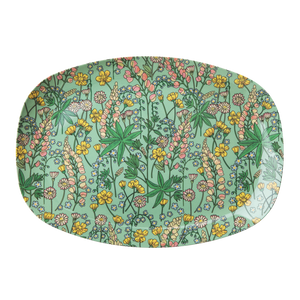 MELAMINE RECTANGULAR PLATE WITH LUPIN PRINT