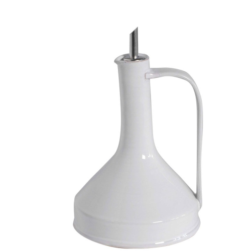 CUOCO WHITE LARGE OIL CRUET