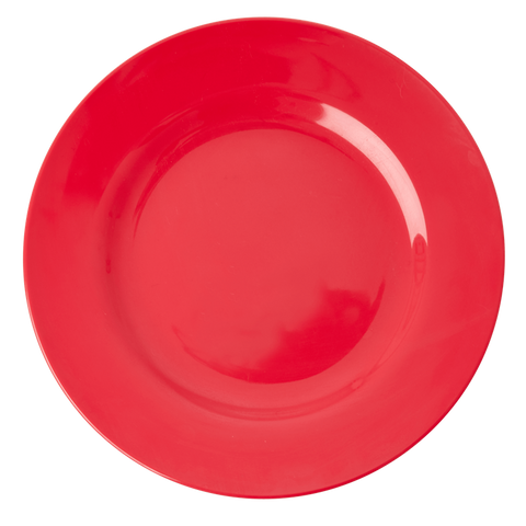 MELAMINE ROUND DINNER PLATE IN RED KISS