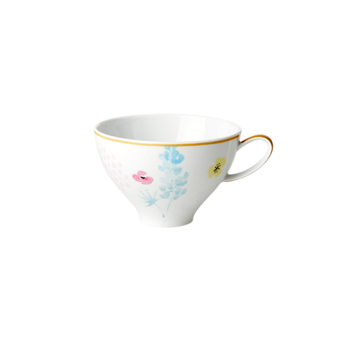 PORCELAIN TEA CUP WITH BLUE LUPIN PRINT