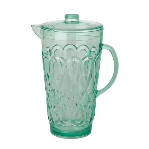 ACRYLIC JUG WITH SWIRLY EMBOSSED DETAIL-PASTEL GREEN, KITCHENWARE, RICE, - Fabrica