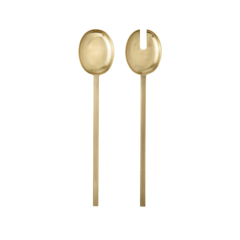 Brass Salad Servers (set of 2), KITCHENWARE, FERM, - Fabrica