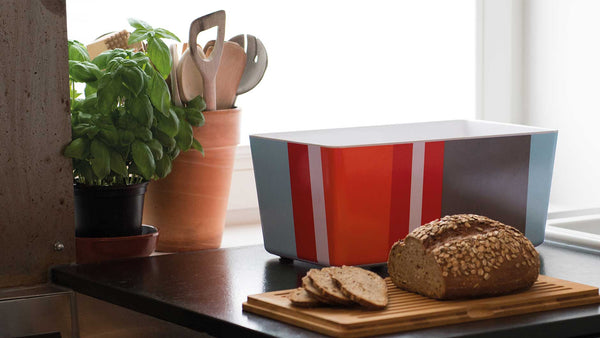 "Bread Box With Bamboo Lid ""Seaside"", KITCHENWARE, REMEMBER®, - Fabrica"