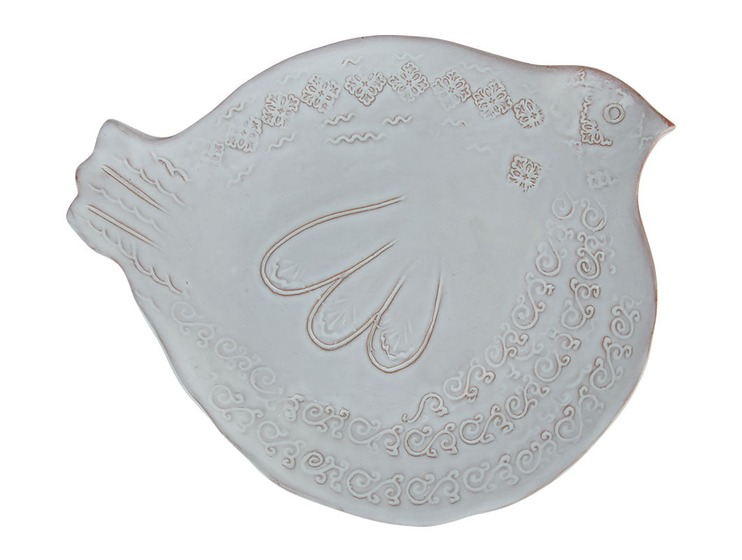 Natale Bird Dessert Platter - White, KITCHENWARE, VIRGINIA CASA, - Fabrica