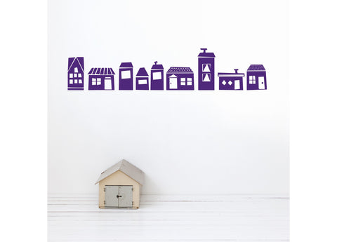 The Village Wallsticker - Violet, KIDS, FERM, - Fabrica