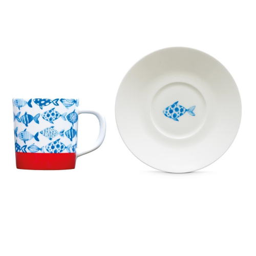 "Espresso Cup+Saucer ""Fish"", KITCHENWARE, REMEMBER®, - Fabrica"