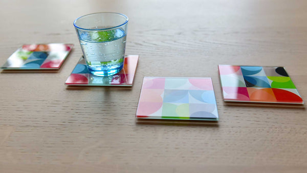 "Glass Coasters ""Solena"" (set of 4), KITCHENWARE, REMEMBER®, - Fabrica"