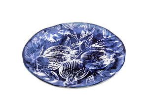 Zaffiro Dinner Plate Pomegranate - White/Blue, KITCHENWARE, VIRGINIA CASA, - Fabrica
