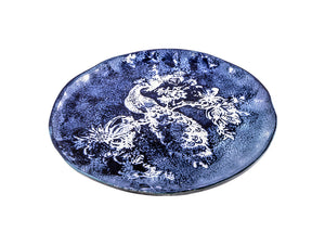 Zaffiro Dinner Plate Peacock - White/Blue, KITCHENWARE, VIRGINIA CASA, - Fabrica