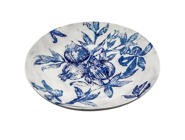Zaffiro Large Bowl Pomegranate - White/Blue, KITCHENWARE, VIRGINIA CASA, - Fabrica