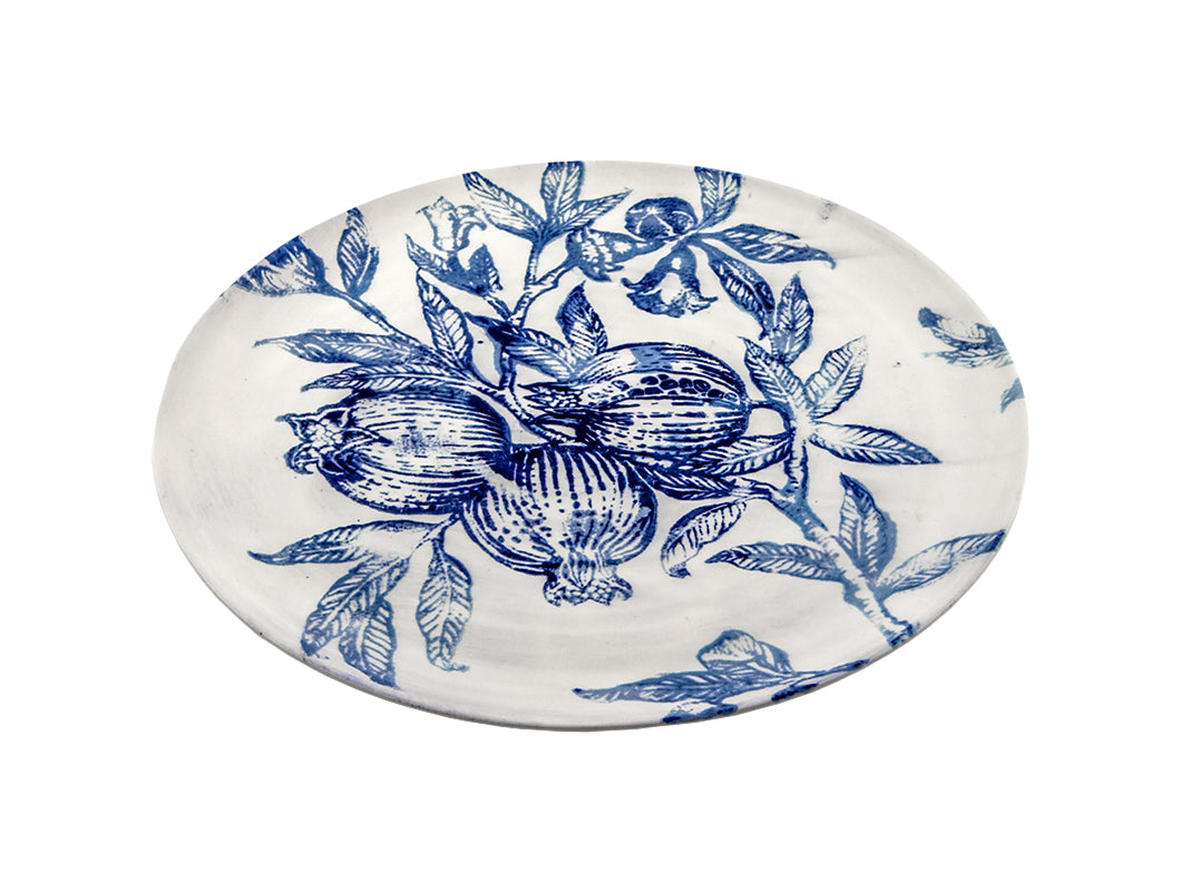 Zaffiro Round Tray - White/Blue, KITCHENWARE, VIRGINIA CASA, - Fabrica