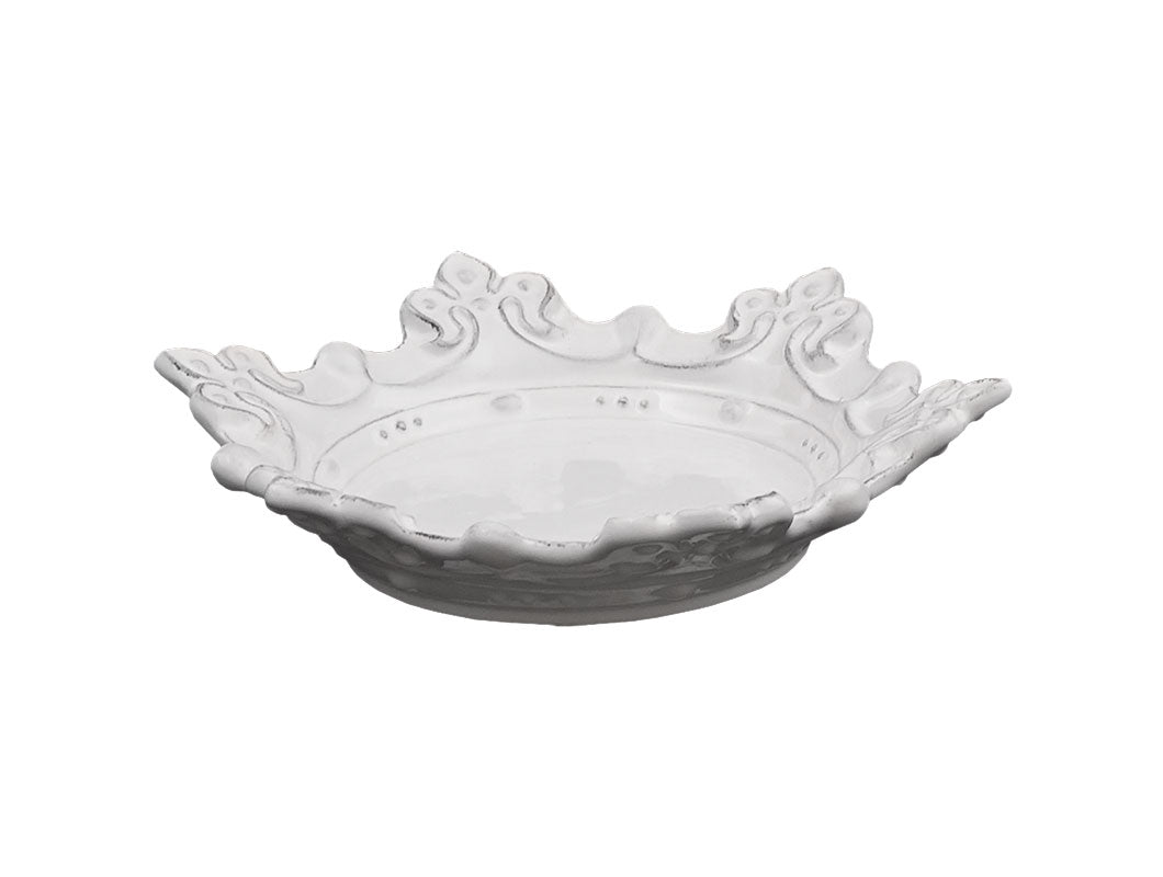 Regale Royal Crown Small Plate - White, KITCHENWARE, VIRGINIA CASA, - Fabrica