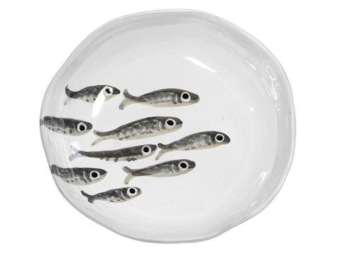 Marina Decorated Soup Plate With Sardines, KITCHENWARE, VIRGINIA CASA, - Fabrica