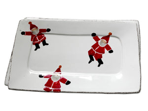 NATALE RECTANGULAR TRAY  WITH SANTAS