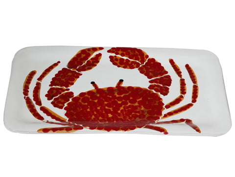 Corallo-Rectangular Tray-Crab