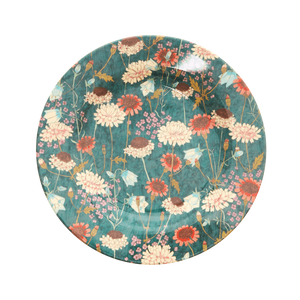 MELAMINE SIDE PLATE WITH FALL FLOWER PRINT, KITCHENWARE, RICE, - Fabrica