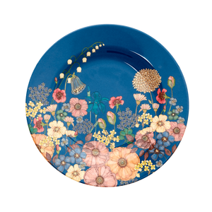 MELAMINE SIDE PLATE WITH FLOWER COLLAGE PRINT, KITCHENWARE, RICE, - Fabrica