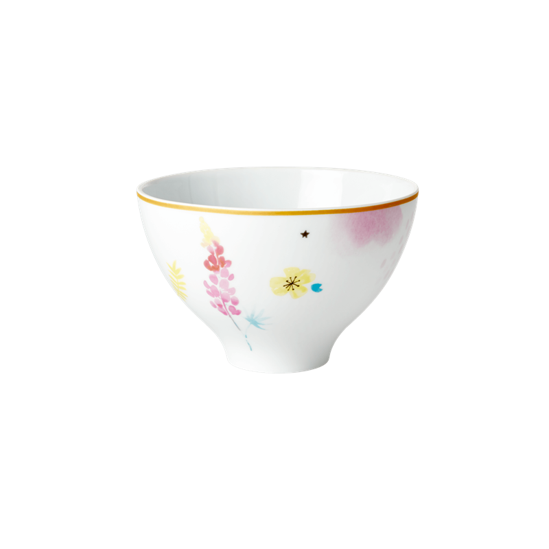 PORCELAIN BOWL WITH COCKATOO PRINT, KITCHENWARE, RICE, - Fabrica