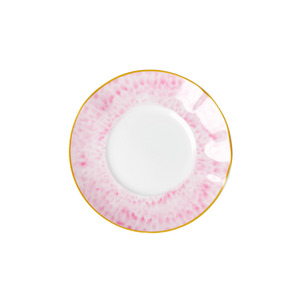 PORCELAIN DESSERT PLATE WITH GLAZE PRINT-BUBBLEGUM PINK, KITCHENWARE, RICE, - Fabrica