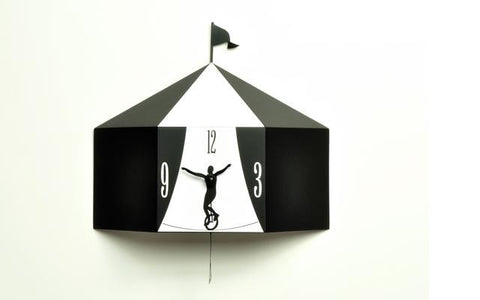 Circus Black Wall Clock, HOME DECOR, PROGETTI, - Fabrica