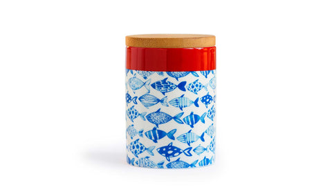 "Porcelain Canister Small ""Fish"", KITCHENWARE, REMEMBER®, - Fabrica"