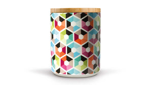 "Porcelain Canister With Wooden Lid ""Hexagon"", KITCHENWARE, REMEMBER®, - Fabrica"