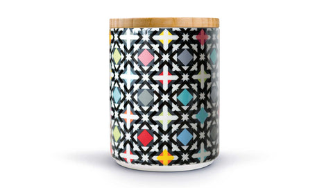 "Porcelain Canister With Wooden Lid ""Holy"", KITCHENWARE, REMEMBER®, - Fabrica"