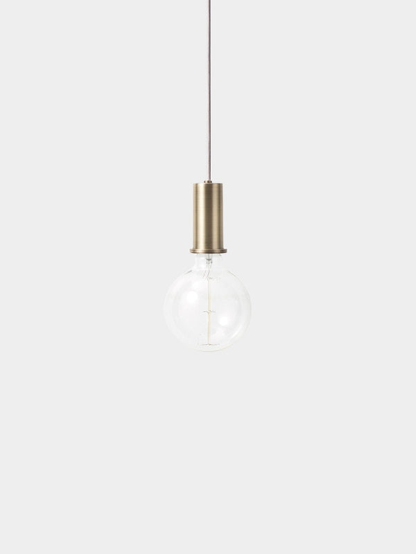 Socket Pendant Low - Brass, LIGHTING, FERM, - Fabrica