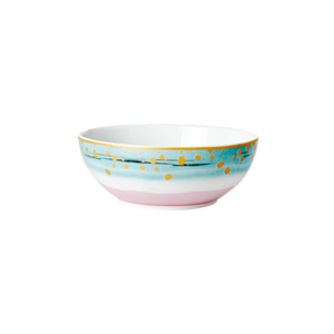 PORCELAIN BREAKFAST BOWL WITH DIP DYE PRINT