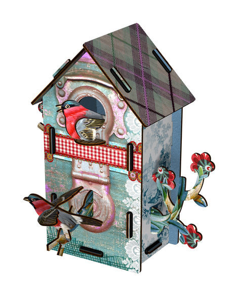 Bird House 2 Floors - Playmates, HOME DECOR, MIHO UNEXPECTED, - Fabrica