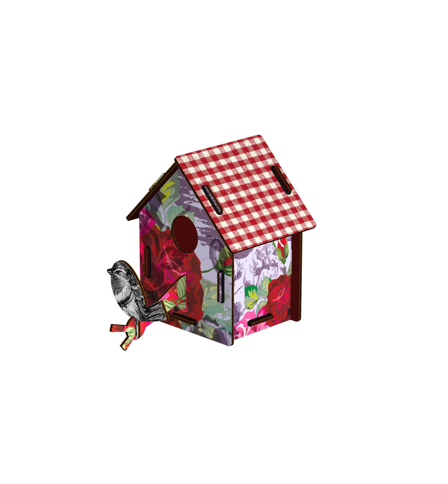 Bird House Small - Enjoy The Crumbs, HOME DECOR, MIHO UNEXPECTED, - Fabrica