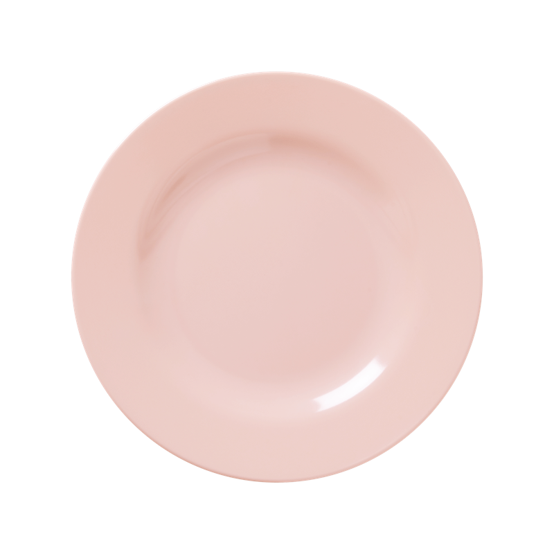 MELAMINE ROUND SIDE PLATE IN SOFT PINK
