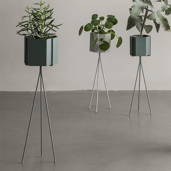 Plant Stand - Dusty Green - Low, HOME DECOR, FERM, - Fabrica
