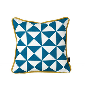 Little Geometry Cushion - Blue, HOME DECOR, FERM, - Fabrica