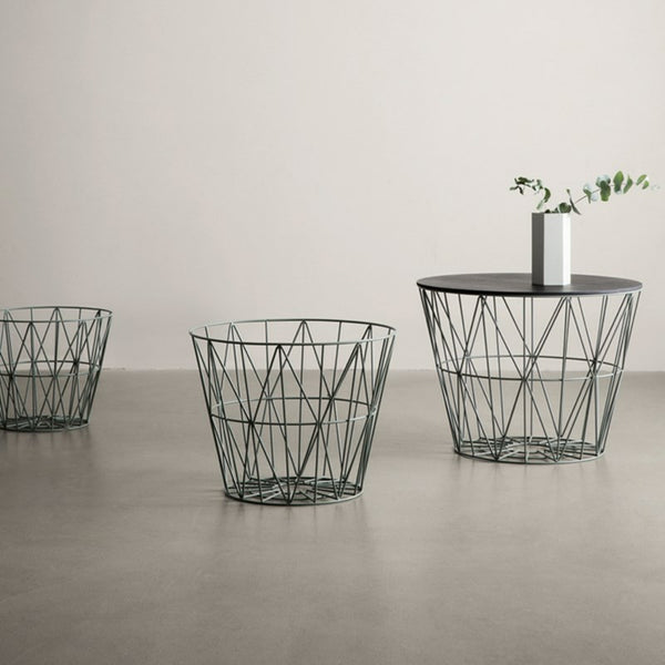 Wire Basket Top - Medium - Black Oak, HOME DECOR, FERM, - Fabrica
