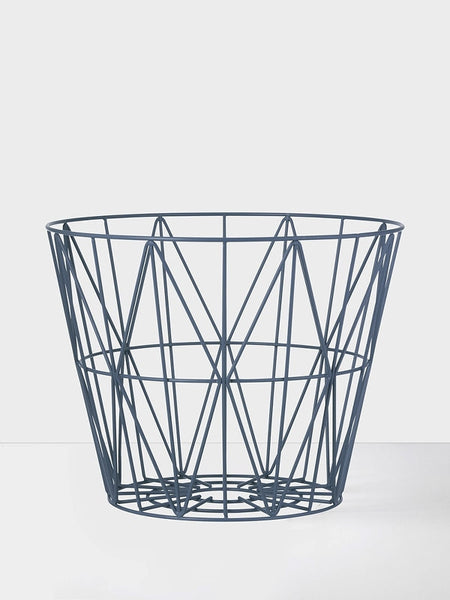 Wire Basket - Small - Petrol, HOME DECOR, FERM, - Fabrica