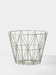 Wire Basket - Small- Dusty Green, HOME DECOR, FERM, - Fabrica