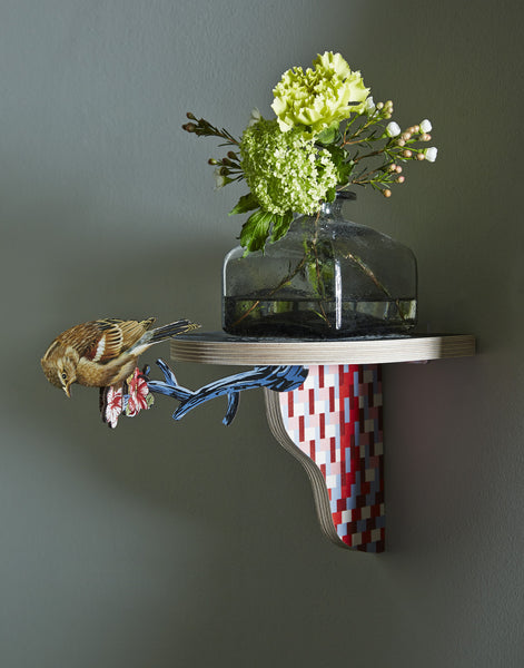 Wooden Shelf Small W/Bird - Commander in Chief, HOME DECOR, MIHO UNEXPECTED, - Fabrica