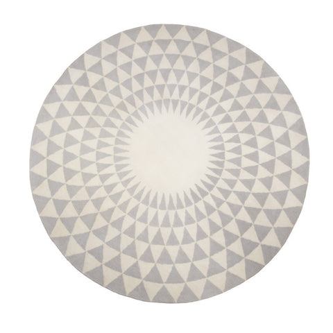Concentric Rug Grey and Ecru, HOME DECOR, NIKI JONES, - Fabrica